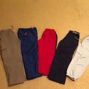 A bundle of 5 boys sweatpants